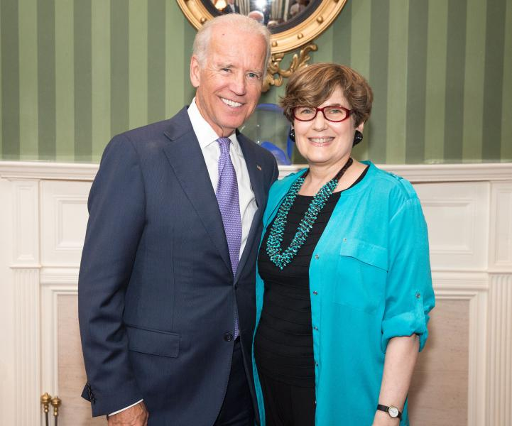Joe Biden with Lynn Hecht Schafran