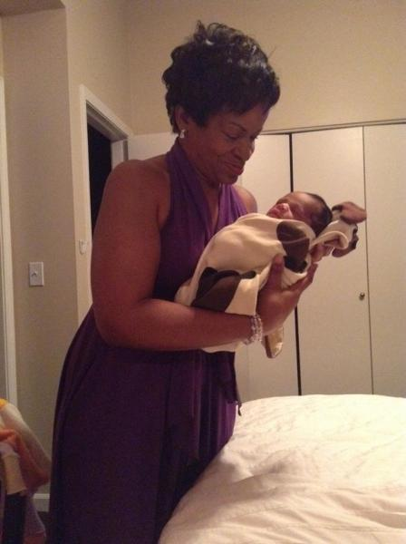 Carolyn with grandson Jackson