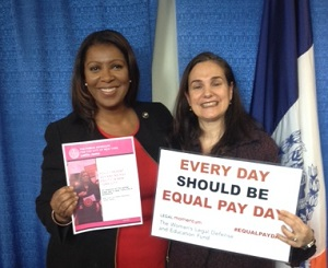 Letitia James and Penny Venetis