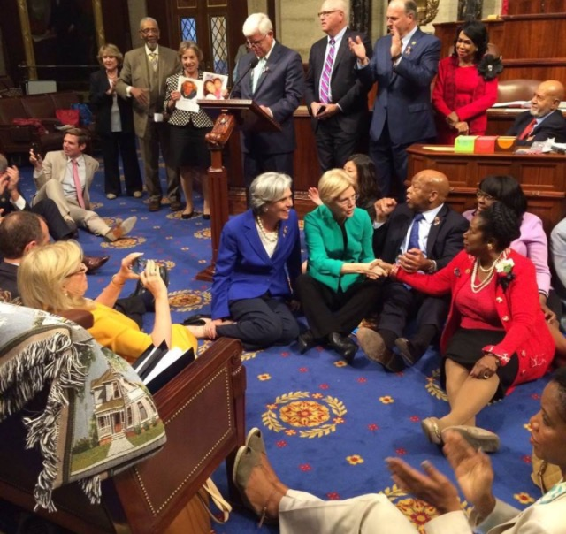 The House sit-in with Rep Lee