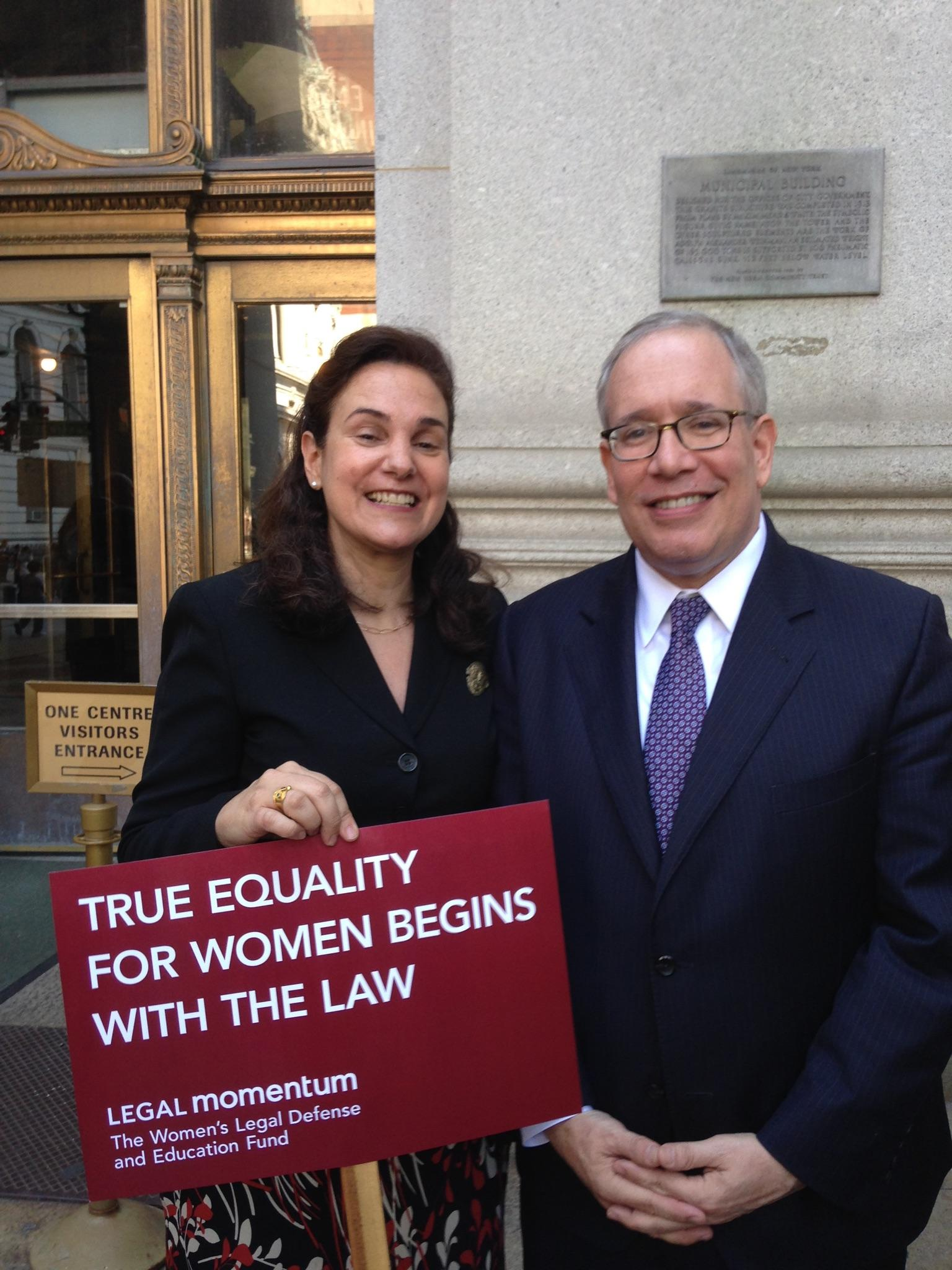 Penny Venetis and Scott Stringer