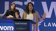 Carol Robles-Román with Mary Mazzio at Trust Women