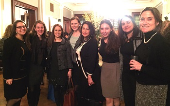 LM staff, volunteers and alumnae at Ruth Bader Ginsburg Lecture