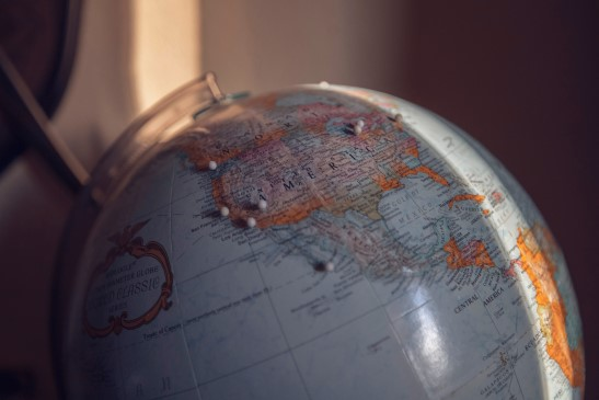photo of globe by Nicole Harrington from Unsplash