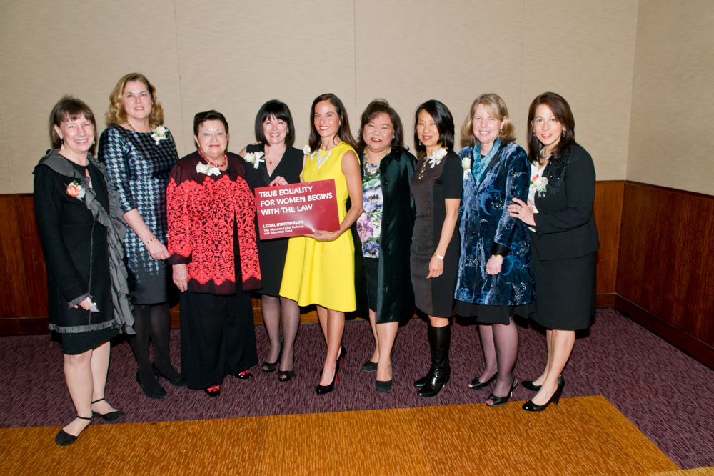 Honorees with LM's Elaine Wood and Carol RObles-Roman