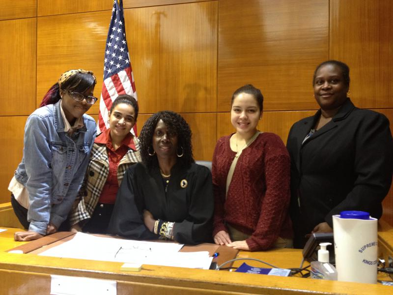 Spring 2014 interns at Brooklyn Supreme Court