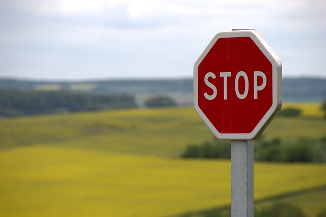 Stop sign image courtesy of Pixabay - Creative Commons license